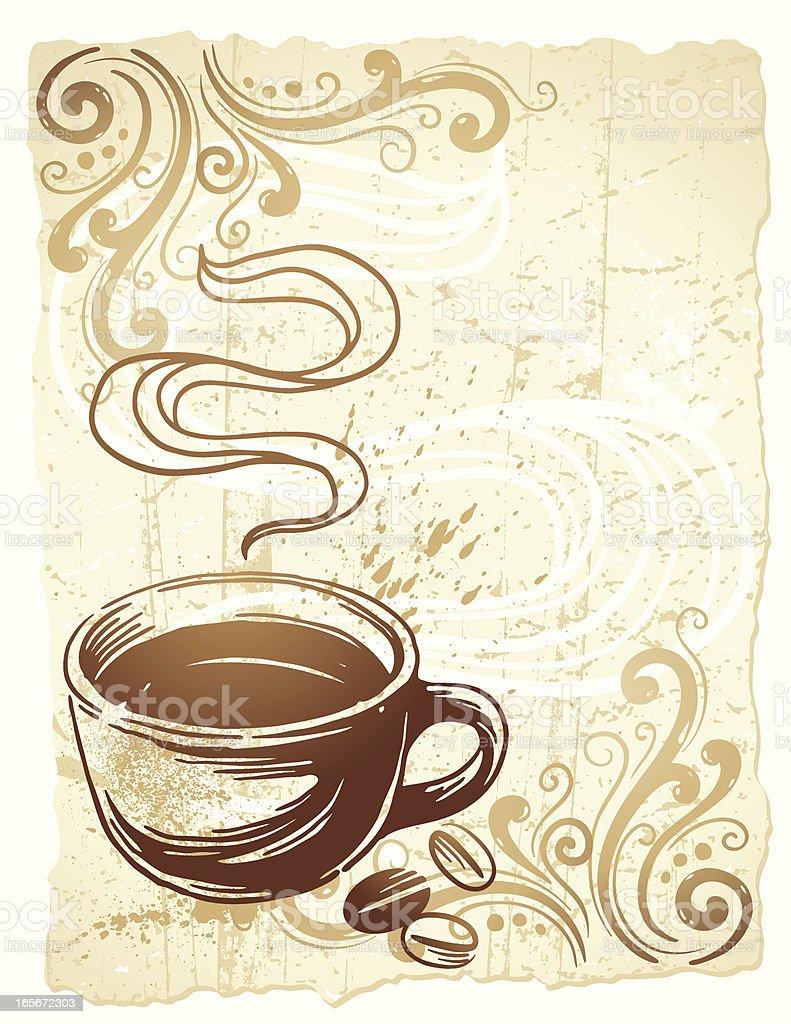 Coffee Grunge royalty-free stock vector art
