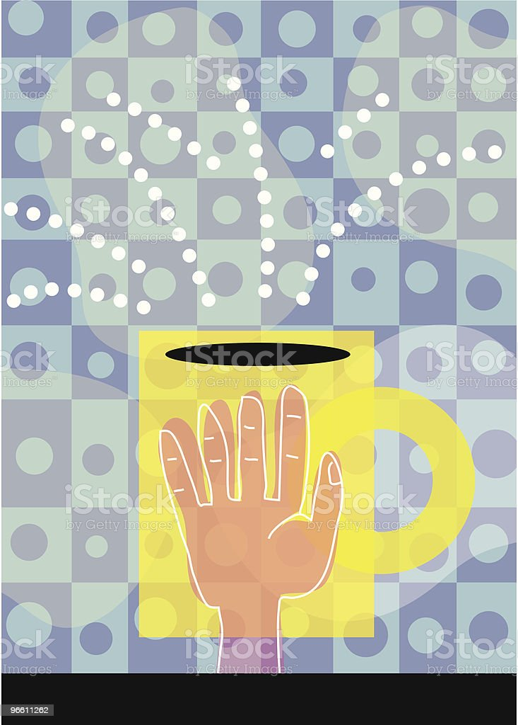 Coffee Hand - Royalty-free Black Coffee stock vector