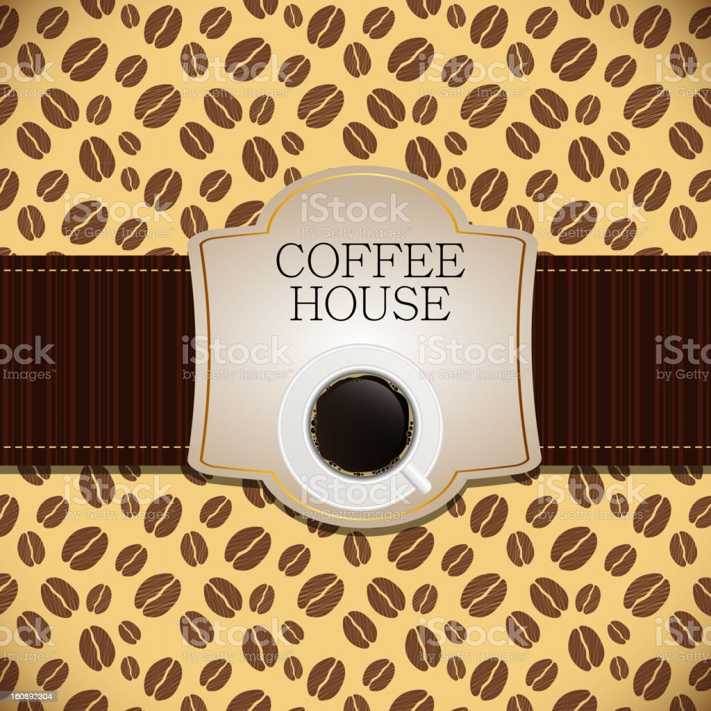 Coffee house menu template vector illustration royalty-free stock vector art