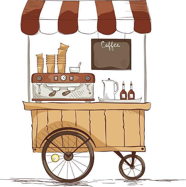 Royalty Free Dessert Cart Clip Art, Vector Images ...