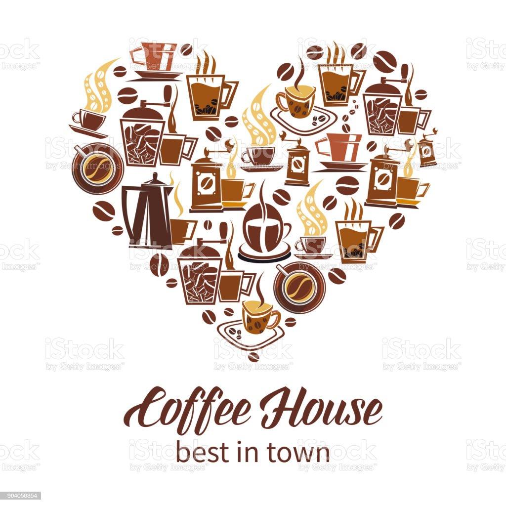 Coffee house vector design - Royalty-free Arabia stock vector