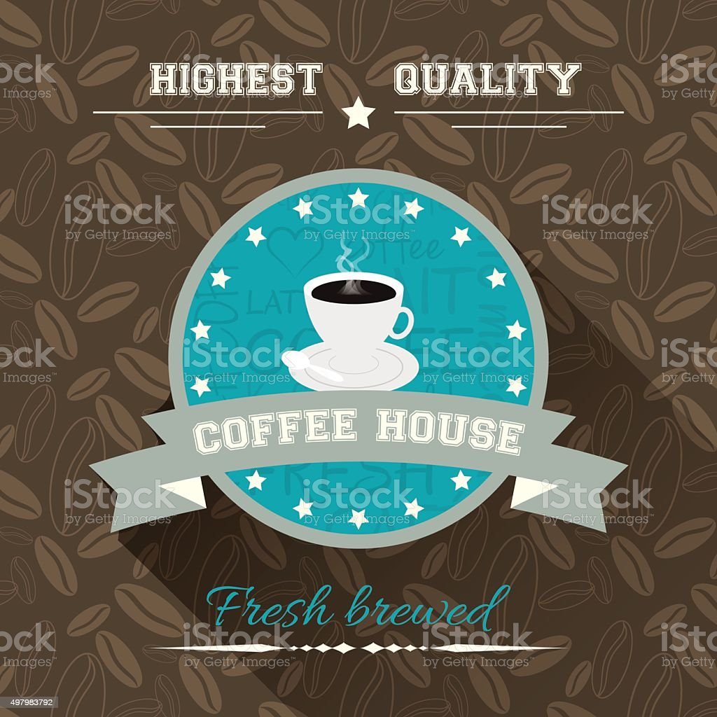 Coffee house vector illustration in flat design. vector art illustration