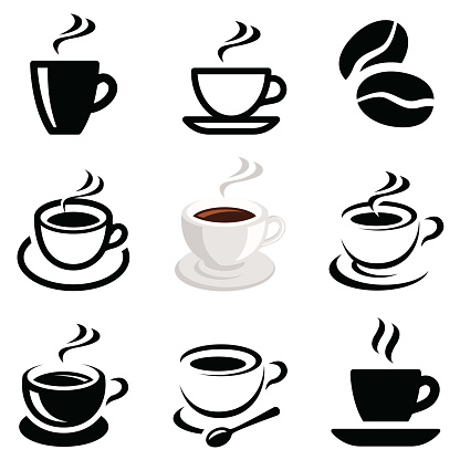 Coffee icon collection clipart