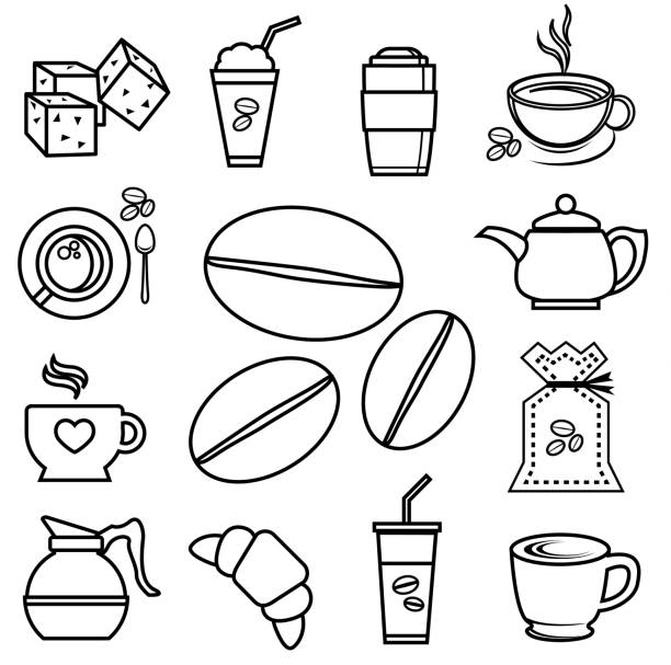 Royalty Free Iced Tea Latte Clip Art, Vector Images