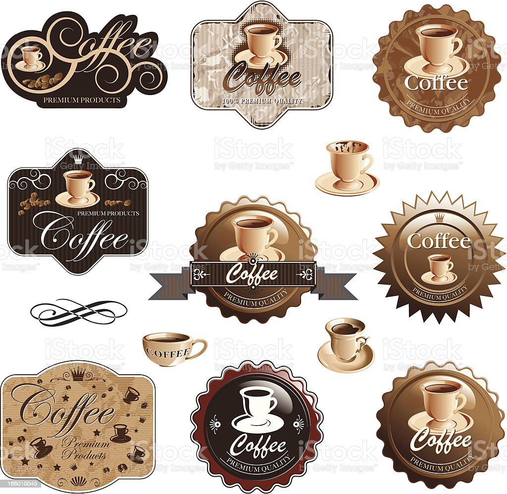 Coffee  icon set royalty-free coffee icon set stock vector art & more images of brown