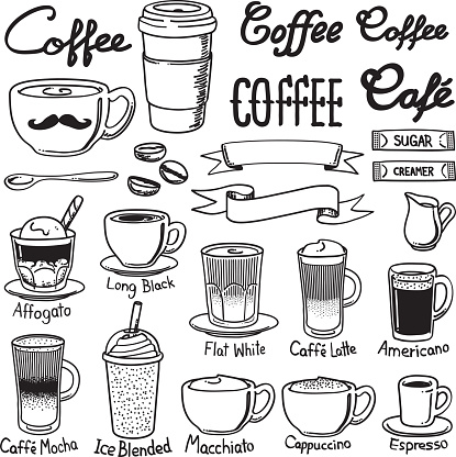 coffee icon sets clipart