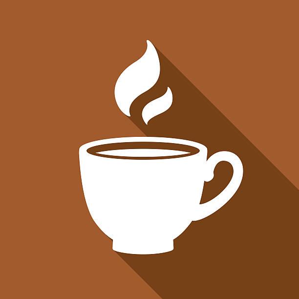ilustrações de stock, clip art, desenhos animados e ícones de coffee icon white - pausa para café