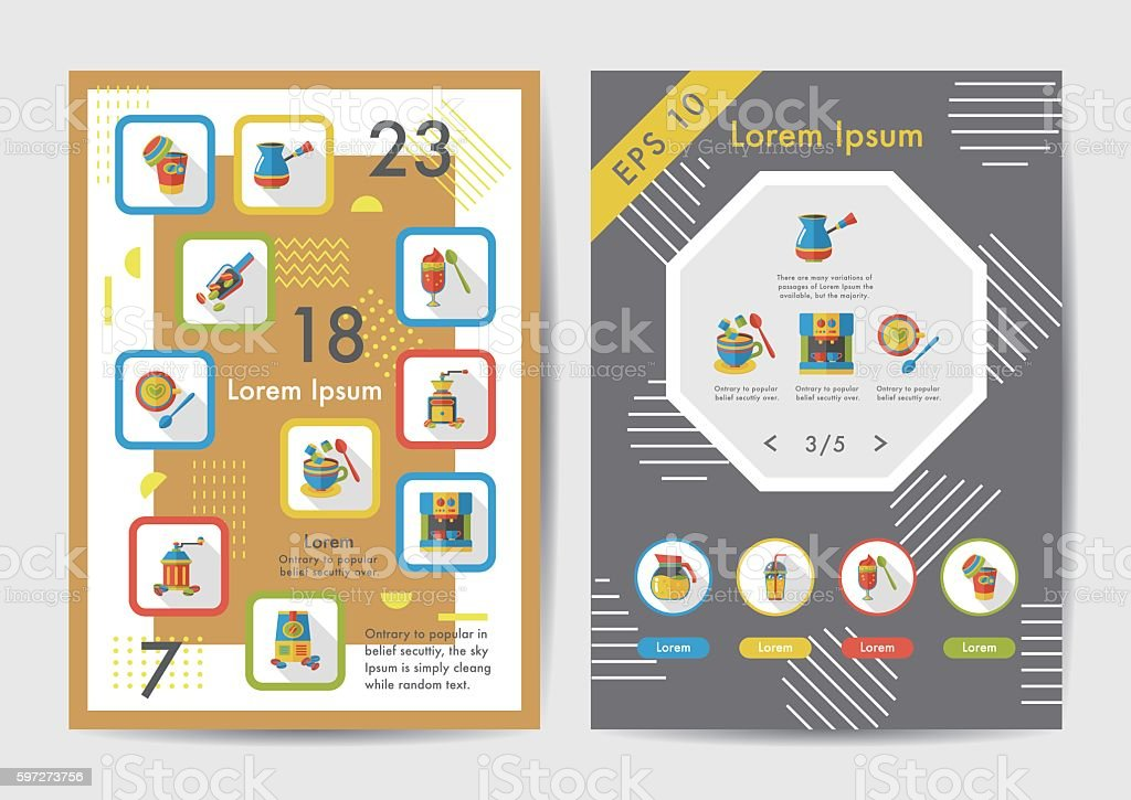 Coffee icons set with long shadow,eps10 Lizenzfreies coffee icons set with long shadoweps10 stock vektor art und mehr bilder von blatt - pflanzenbestandteile