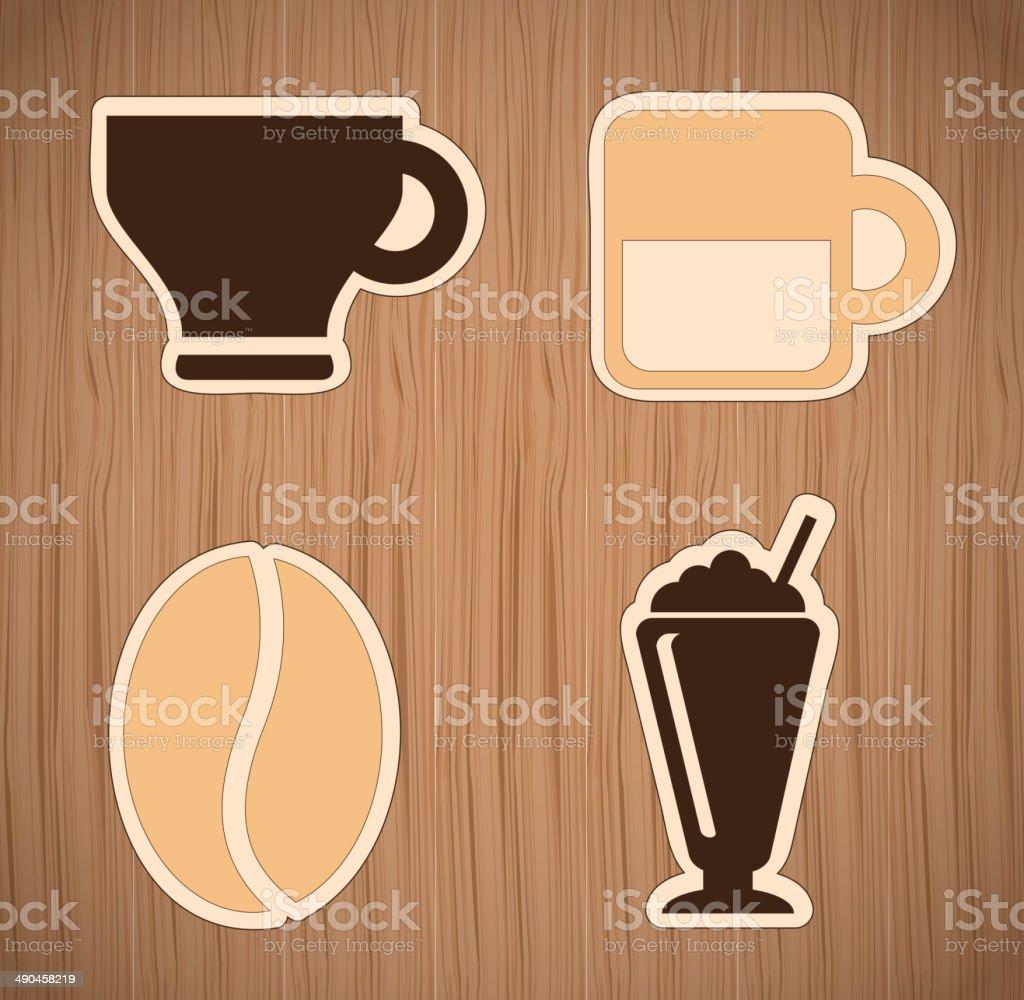 coffee  icons vector art illustration