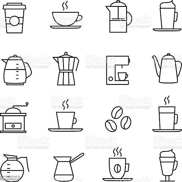 Coffee icons vector id494245640?b=1&k=6&m=494245640&s=612x612&h=svf5nvt39snlrit9vbcntwcqfsjth9h1rn7xsbjxdrc=