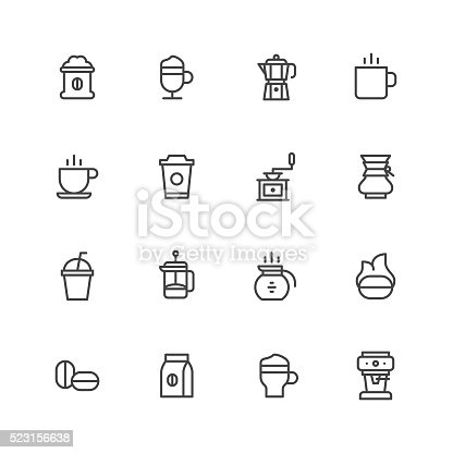 Coffee icons Vector EPS File.