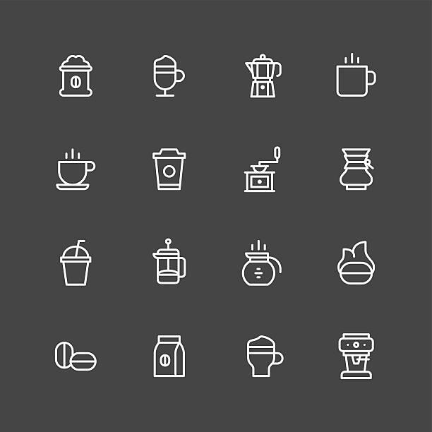 Coffee icons - White Series Coffee icons - White Series Vector EPS File. irish coffee stock illustrations