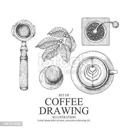 coffee illustration set.