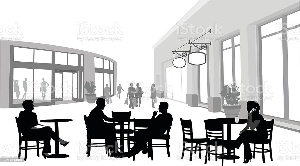 Coffee In Mall royalty-free stock vector art