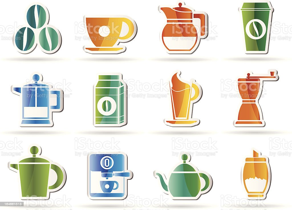 coffee industry signs and icons royalty-free stock vector art