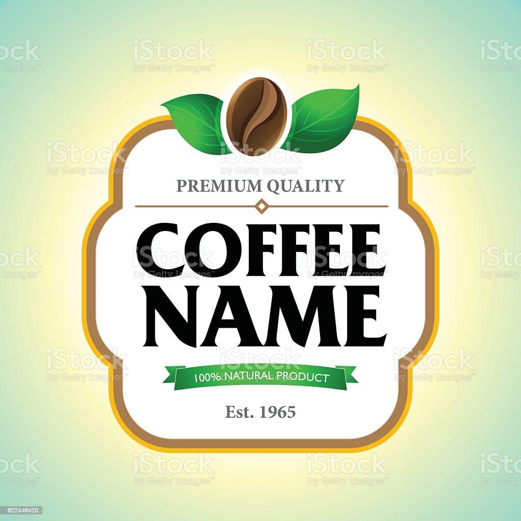 Coffee Label Sticker Template Cliparts Vectoriels Et Plus D Images