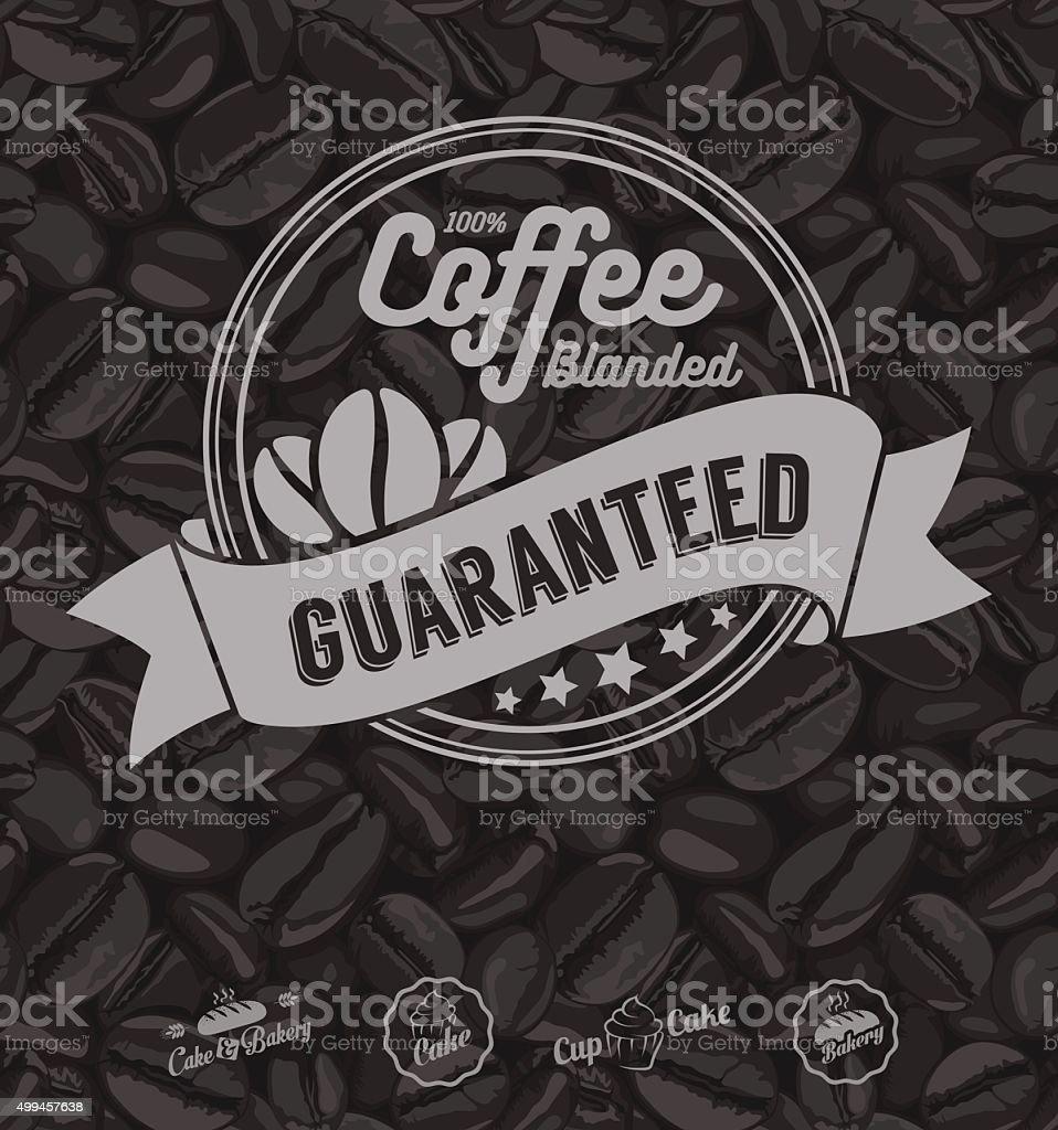 コーヒーラベルテンプレートベクトル 2015年のベクターアート素材や