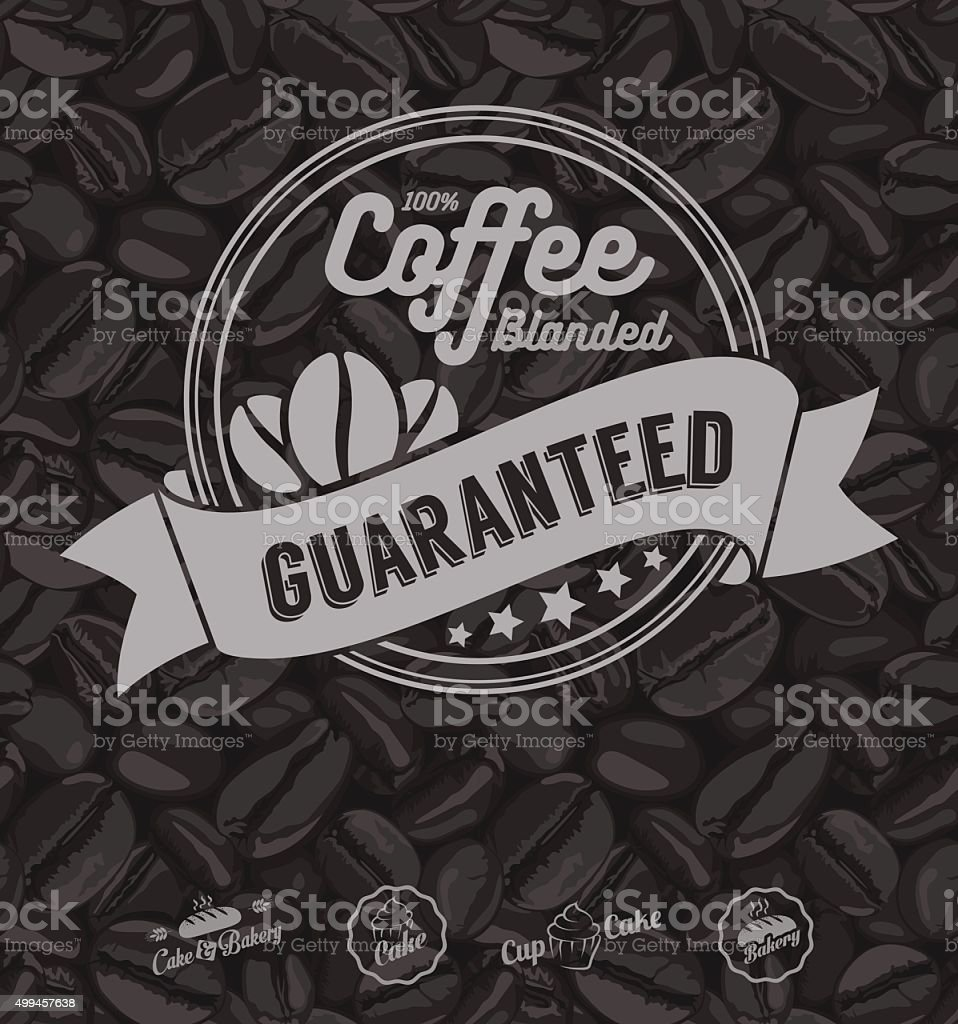 Coffee Label Template Vector vector art illustration