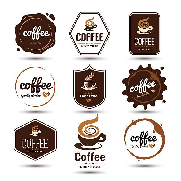 コーヒーラベル - コーヒー点のイラスト素材/クリップアート素材/マンガ素材/アイコン素材