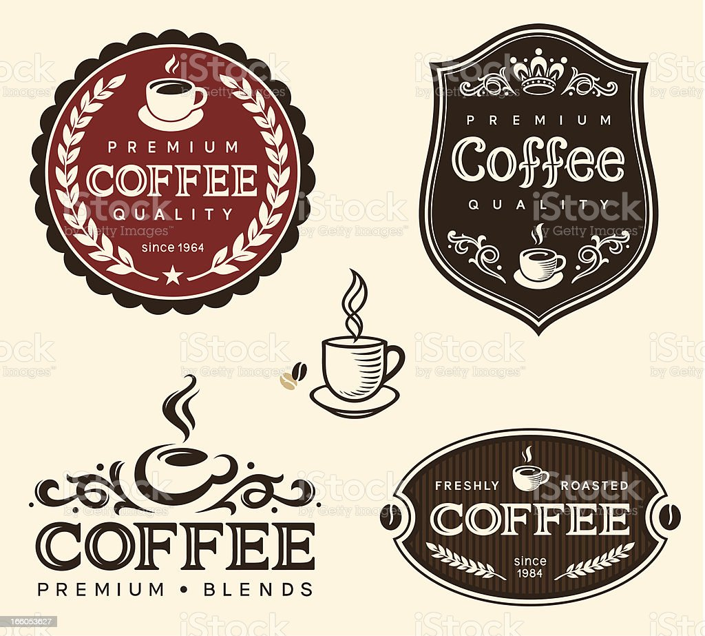 Coffee labels set royalty-free coffee labels set stock vector art & more images of badge