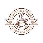 istock Coffee Logo design vector illustration. Retro Vintage Coffee Logo vector design concept for cafe and restaurant emblem. Coffee Shop vector design for Logo, icon, label, badge, sign and symbol. 1267680278