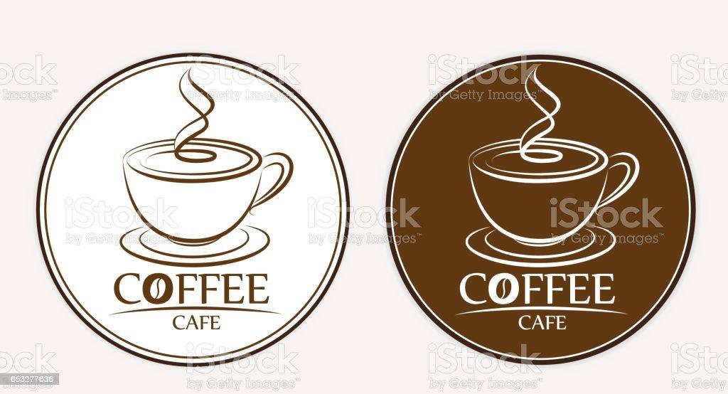 Kaffeelogo Beschriftungen Designvorlagen Stock Vektor Art und mehr ...