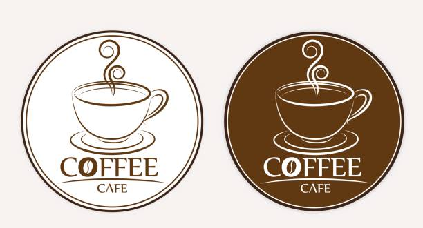 coffee logo, labels, design templates - coffee cup stock illustrations, clip art, cartoons, & icons