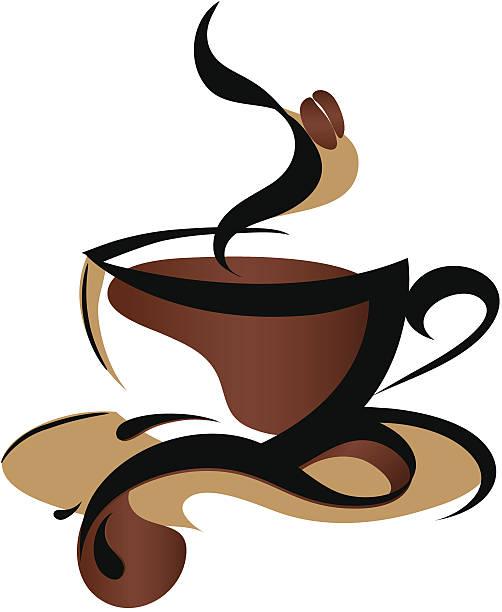 Coffee logo pic art on white background vector art illustration