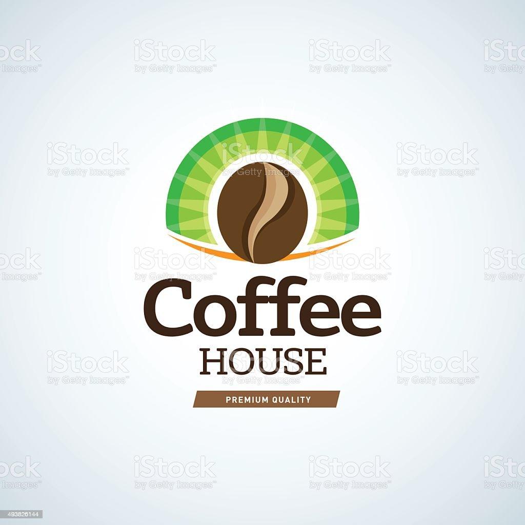 Coffee logo template. Cafe house logotype template. Cafe emblem sign vector art illustration