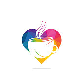 Coffee cup logo. Break, cafe.