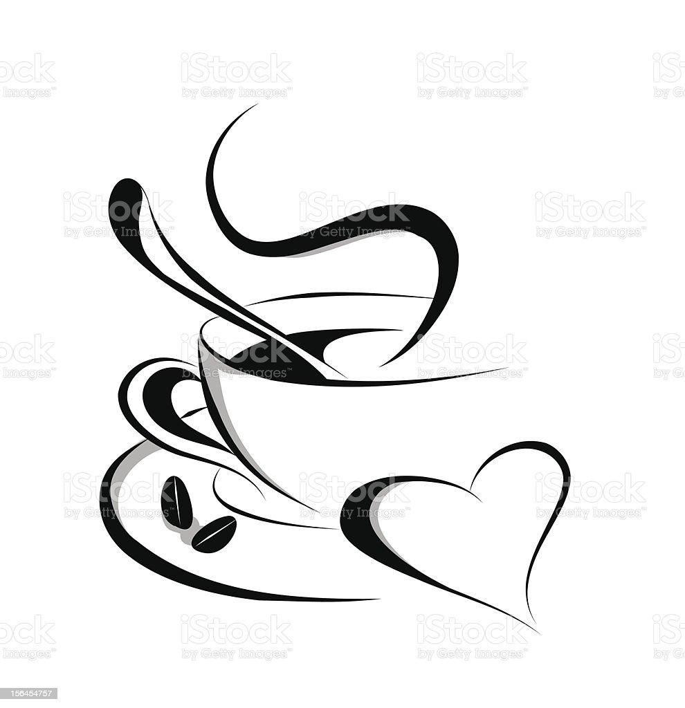 Coffee love vector art illustration