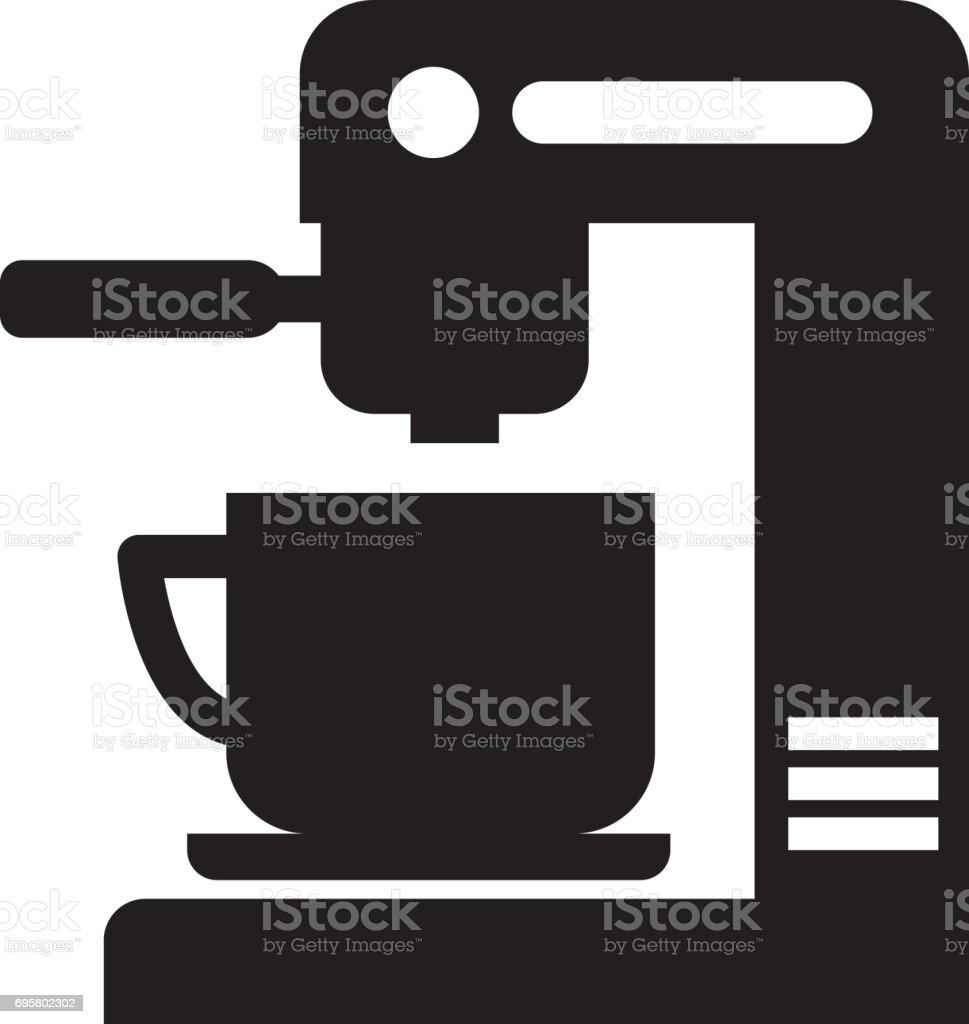 icono aislado de la máquina de café - ilustración de arte vectorial