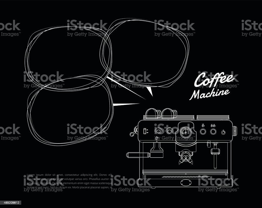 Cafetera realista negro. Los ilustración vectorial. - ilustración de arte vectorial