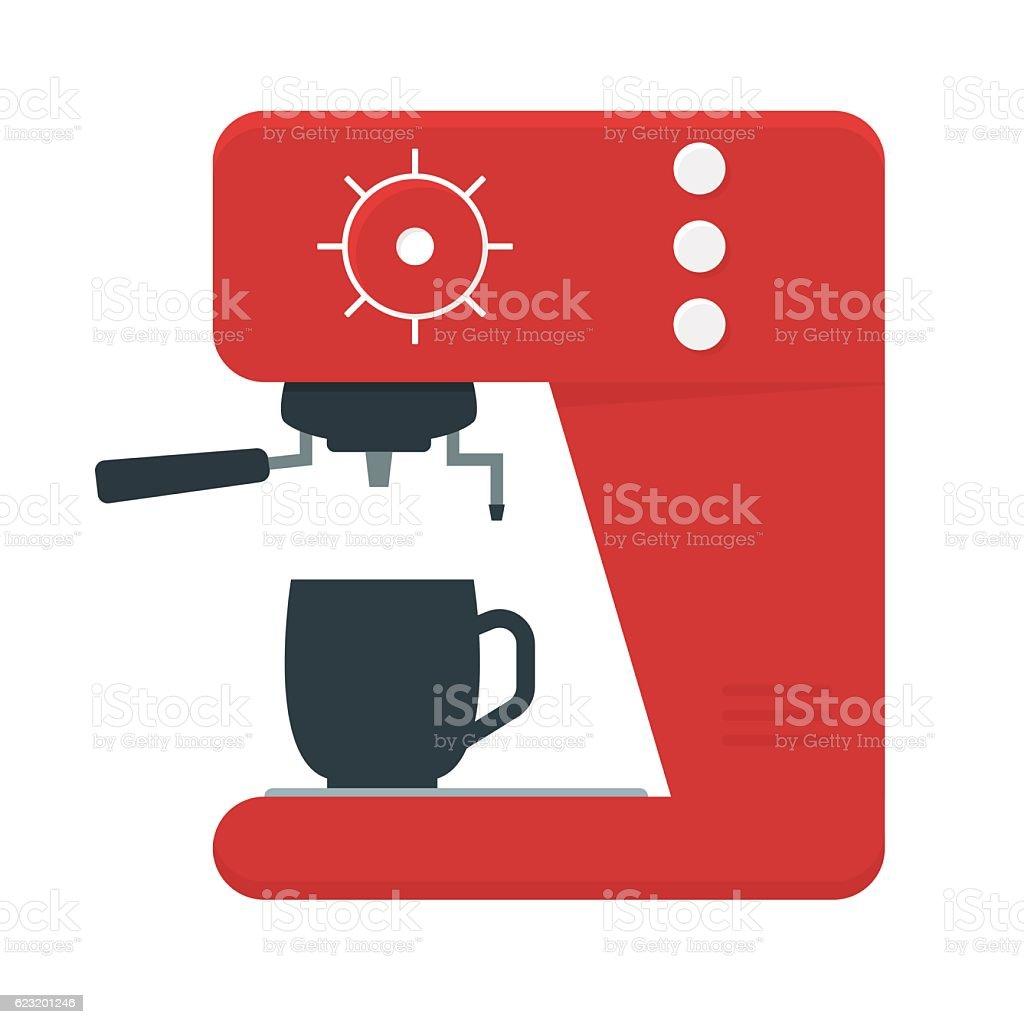 Coffee Machine with a Cup. Vector - ilustración de arte vectorial