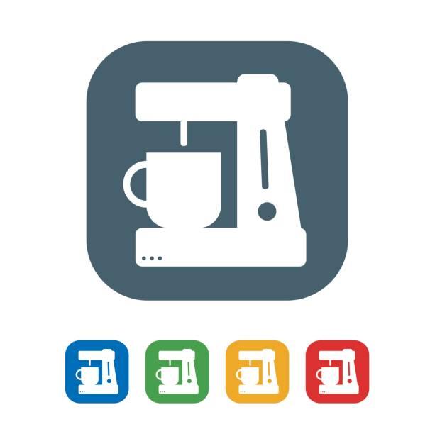 ilustrações de stock, clip art, desenhos animados e ícones de coffee maker flat icon isolated on white background.vector illustration icon - kitchen counter