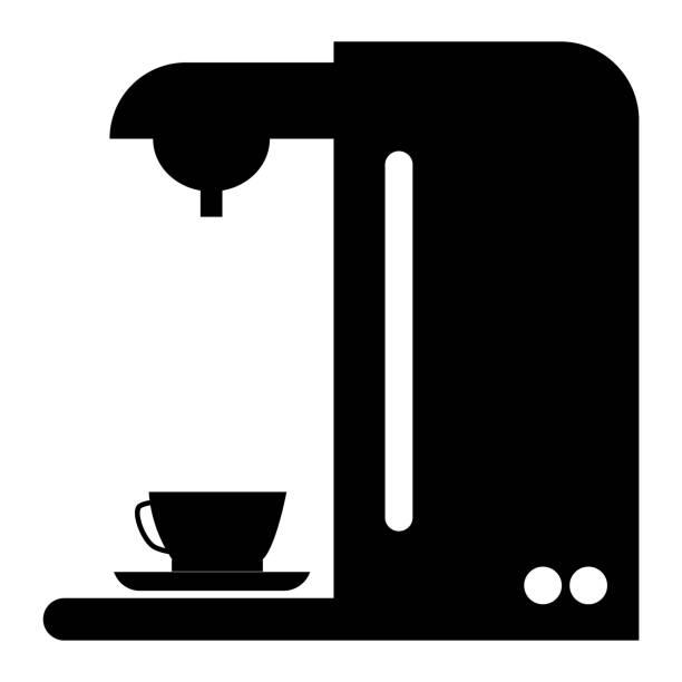 ilustrações de stock, clip art, desenhos animados e ícones de coffee maker icon on white background. flat style. espresso symbol. coffee maker sign. - kitchen counter