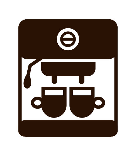 Coffee maker icon. Coffee maker icon. Vector brown isolated illustration on white. irish coffee stock illustrations
