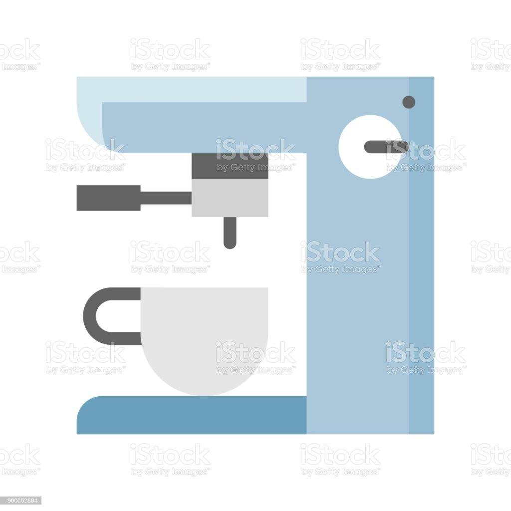 Coffee Maker Machine Espresso Machine Flat Icon Stock Vector Art