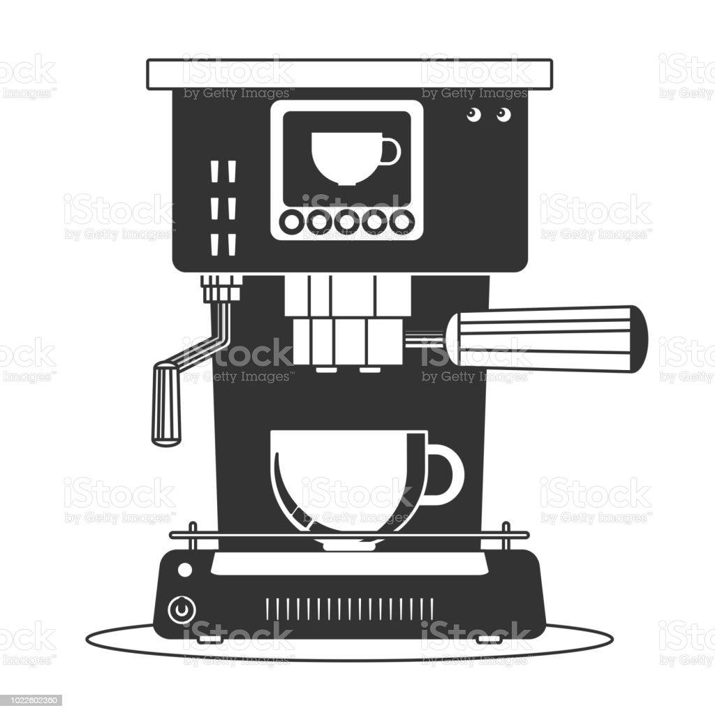Ilustración de Cafetera Icono De Máquina Plano Simple Vector Símbolo y más Vectores Libres de Derechos de Automático