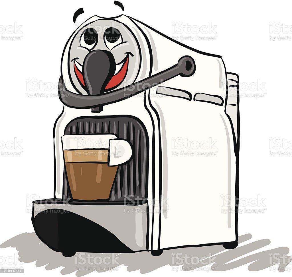 coffee maker vector art illustration