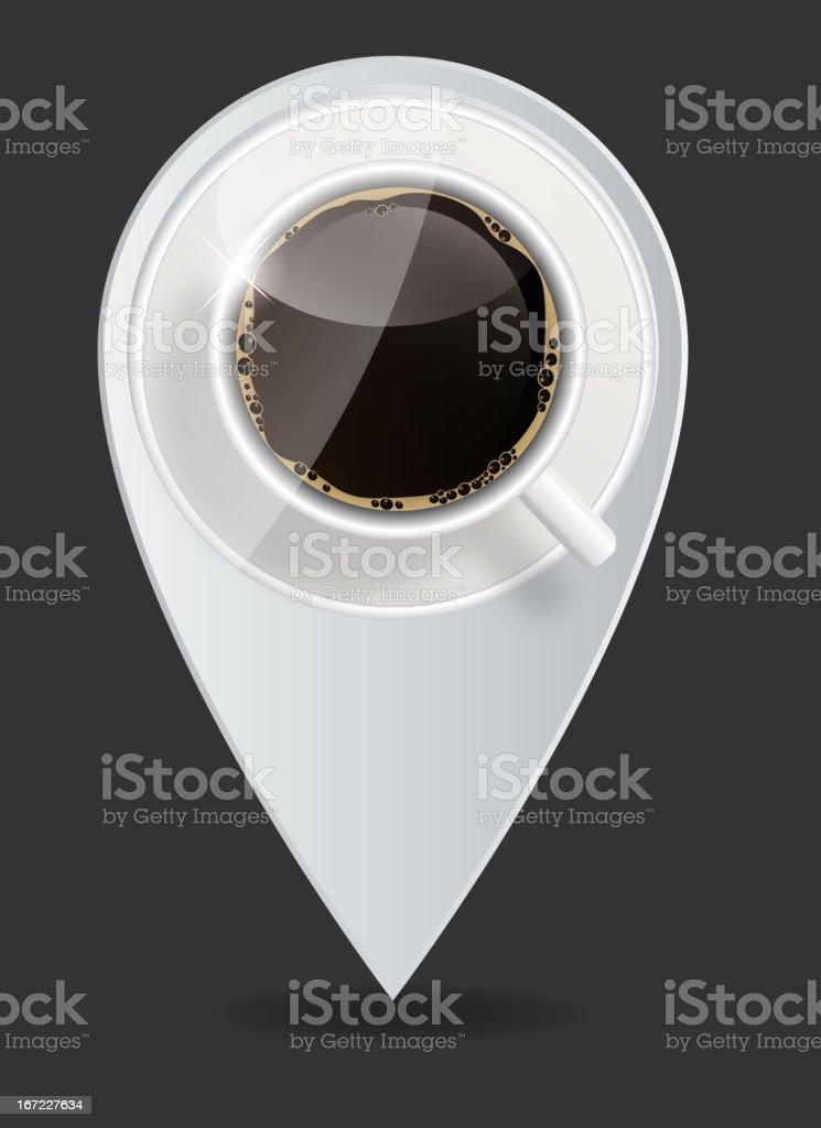 coffee map pointer vector illustration vector art illustration