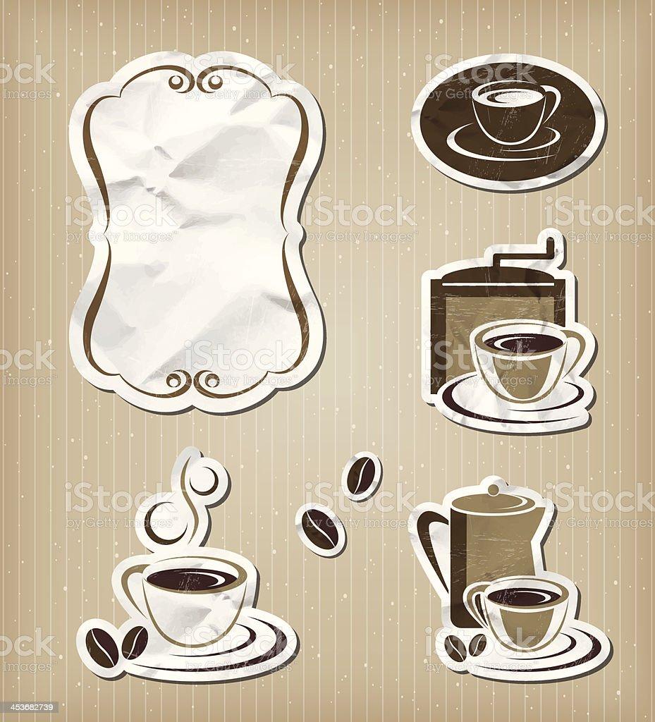 Coffee menu vintage set royalty-free stock vector art