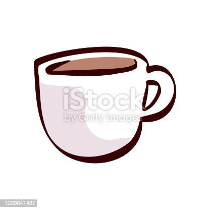 Coffee mug cartoon illustration