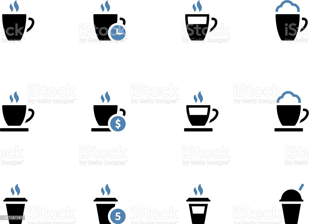 Coffee mug duotone icons on white background. royalty-free stock vector art