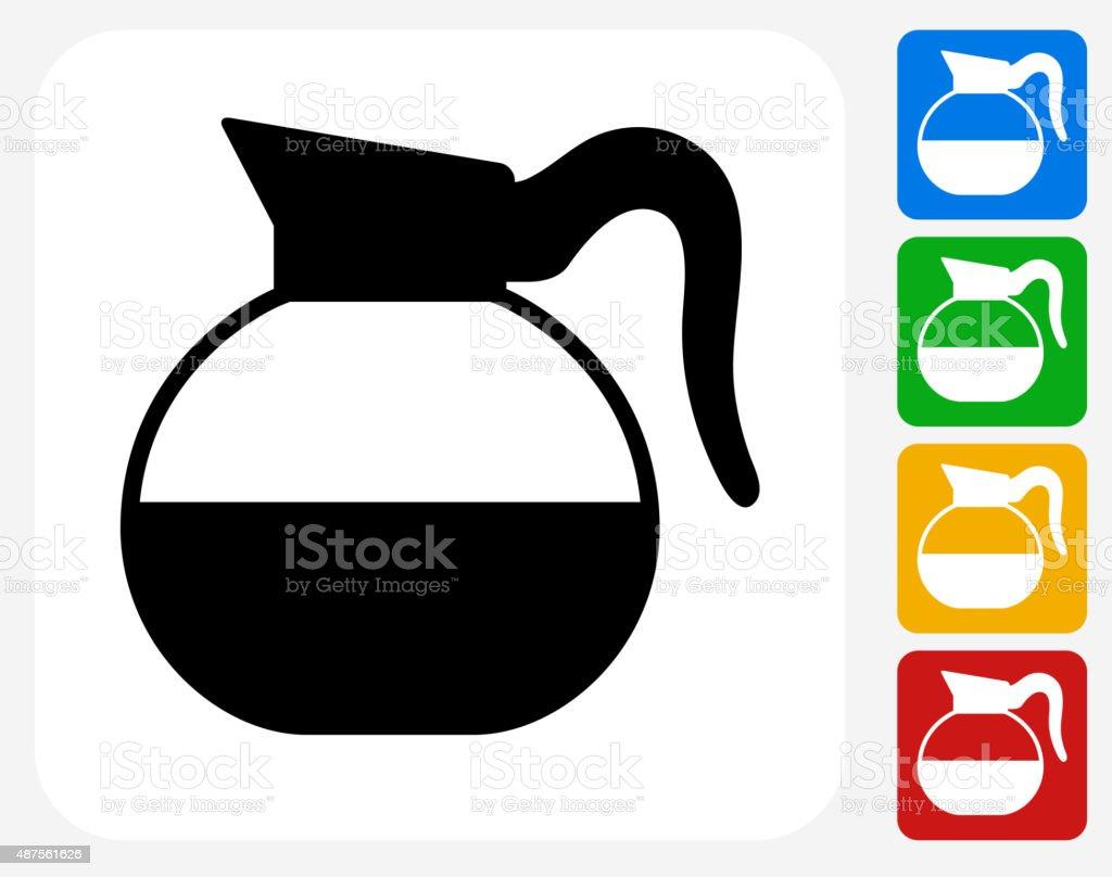 Coffee Mug Icon Flat Graphic Design vector art illustration