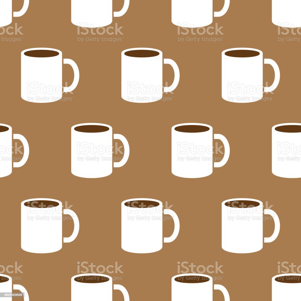 Coffee Mug Pattern vector art illustration