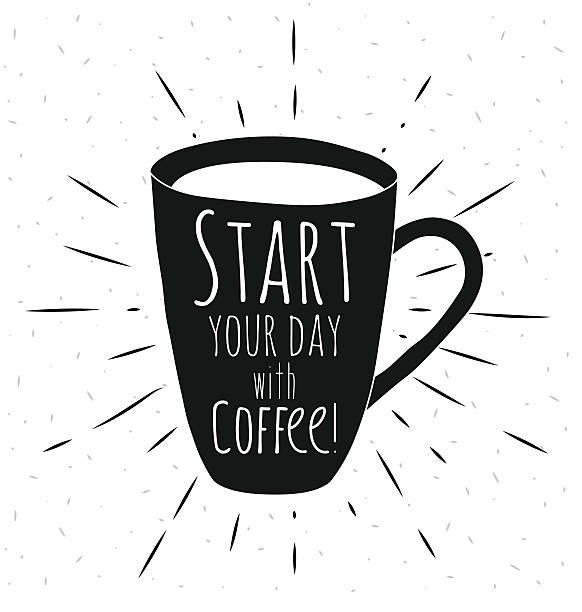 coffee mug vector art illustration