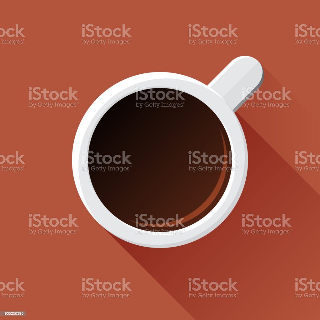 Coffee mug vector art illustration