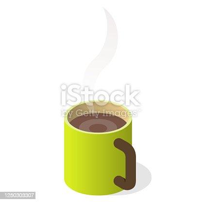 istock coffee mug with steam 1250303307