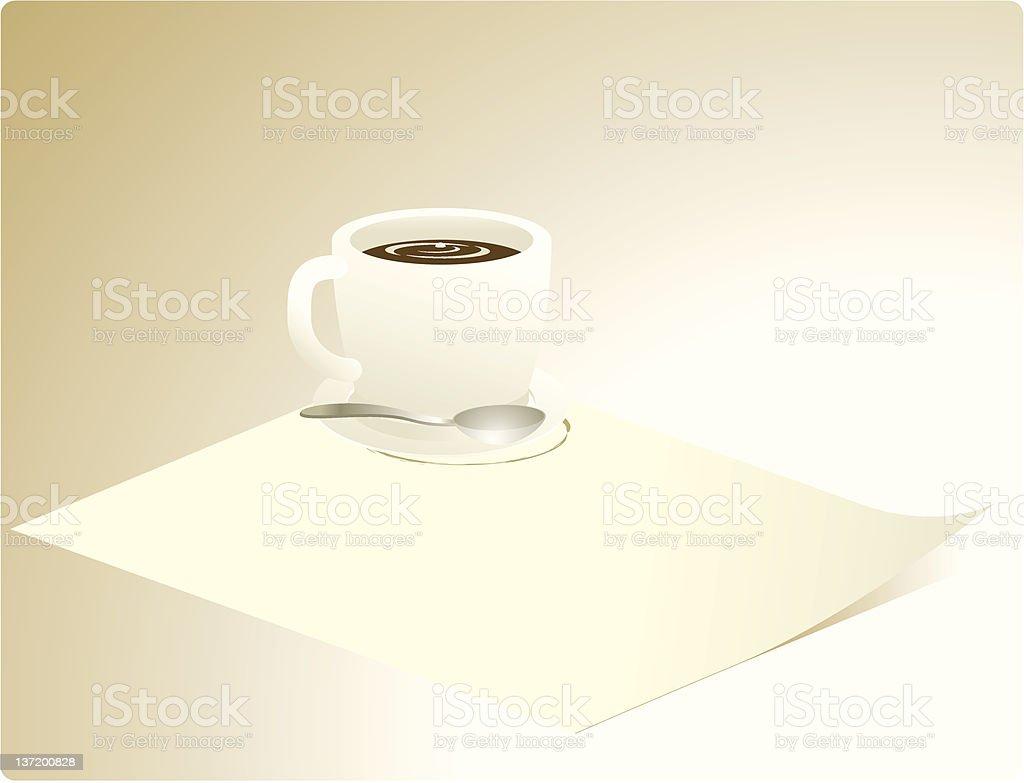 coffee note vector art illustration